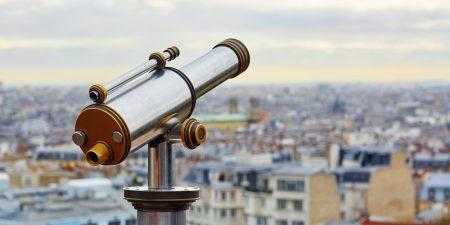 Touristic telescope Paris
